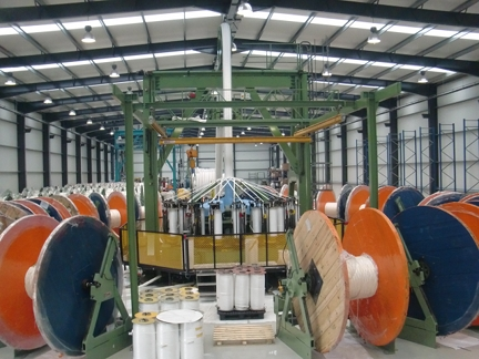 Rope manufacture at Lankhorst Ropes' new production facility.